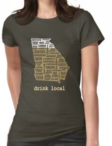 Drink Local - Georgia Beer Shirt Womens Fitted T-Shirt