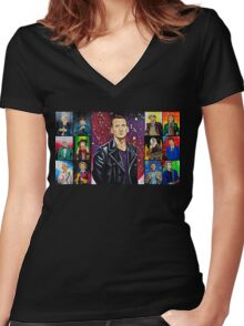 The Doctor of the Universe - The Survivor Women's Fitted V-Neck T-Shirt