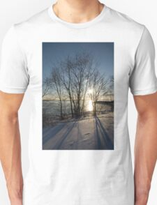 Long Shadows in the Snow Unisex T-Shirt