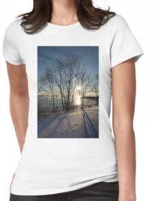 Long Shadows in the Snow Womens Fitted T-Shirt