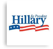 Hillary 2016 Bumper Sticker Canvas Print