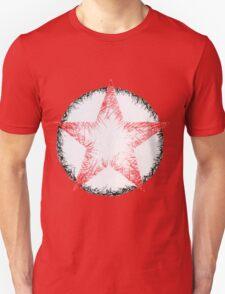 Red & Black Scratch Star Unisex T-Shirt