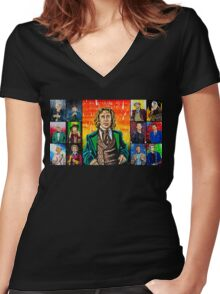 The Doctor of the Universe - The Romantic Women's Fitted V-Neck T-Shirt