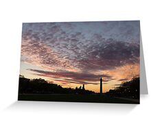Washington National Mall Skyline and a Spectacular Sky Greeting Card