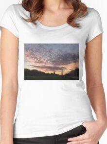 Washington National Mall Skyline and a Spectacular Sky Women's Fitted Scoop T-Shirt