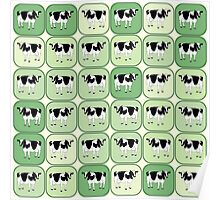 Tiled cows pattern Poster