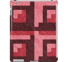 Red Blocks Pixel Pattern iPad Case/Skin