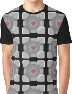 The cube is love, the cube is life -black- Graphic T-Shirt
