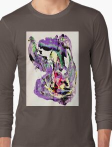 It's not worth crying over spilt milk - Original Wall Modern Abstract Art Painting Original mixed media Long Sleeve T-Shirt