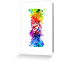G Artistic Greeting Card