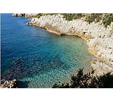 Cote D Azur - the Azure Coast - at Saint-Jean-Cap-Ferrat, France Photographic Print