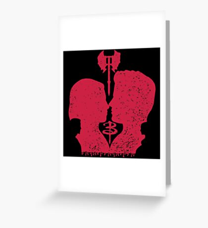When you kiss me, I wanna die... Greeting Card