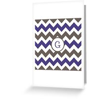 Purple Chevron G Greeting Card
