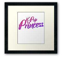 K-pop princess Framed Print