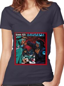 Liquid Swords Genius GZA Women's Fitted V-Neck T-Shirt