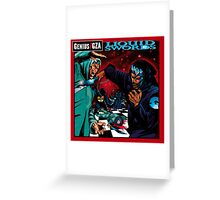 Liquid Swords Genius GZA Greeting Card