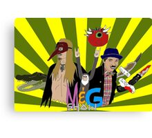 Monty And Griffin Show (Green) Canvas Print