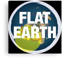 Flat earth, alternate science, Canvas Print