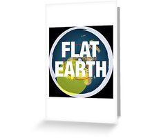 Flat earth, alternate science, Greeting Card