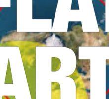 Flat earth, alternate science, Sticker