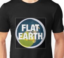 Flat earth, alternate science, Unisex T-Shirt