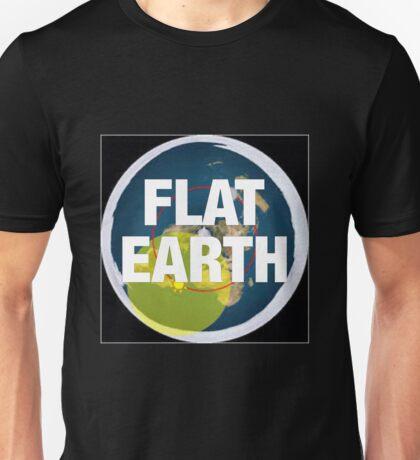 Flat earth, alternate science, Unisex T-Shirt
