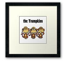 Cool Funny Donald Trump Political Cartoon Framed Print