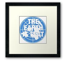 The earth is flat fact Framed Print