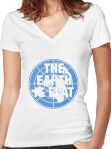 The earth is flat fact Women's Fitted V-Neck T-Shirt