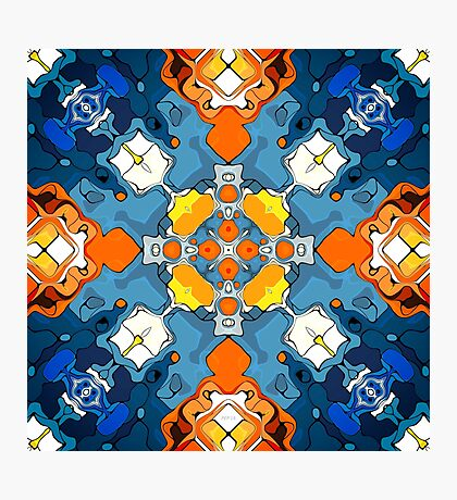 Blend of Blue And Orange Photographic Print