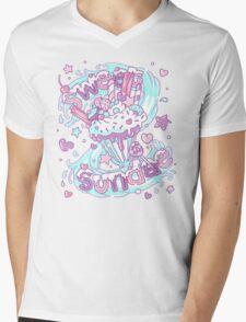 Sweet Sundae - Fairy Kei Pastel Kawaii Cute Mens V-Neck T-Shirt