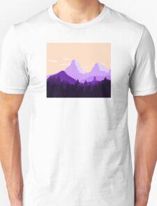 Purple Landscape - Flat T-Shirt