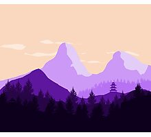 Purple Landscape - Flat Photographic Print
