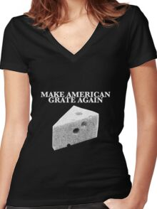 Make American Grate Again Women's Fitted V-Neck T-Shirt