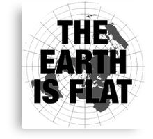 Flat earth, plane truth, reality Canvas Print