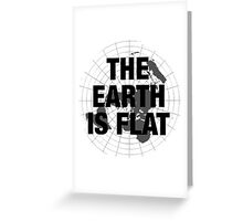 Flat earth, plane truth, reality Greeting Card