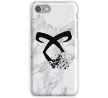 marble angelic rune  iPhone Case/Skin