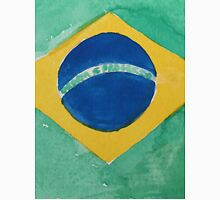 Brazil National Flag in Water Colors Green, Blue and Yellow T-Shirt