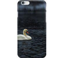White Swan in River iPhone Case/Skin