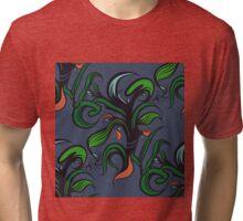 Herbal pattern. Tri-blend T-Shirt