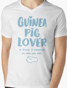 Guinea Pig Lover or Slave Mens V-Neck T-Shirt