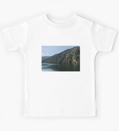 Steep Shores and Green Summer Light - a Mountain Lake Impression Kids Tee