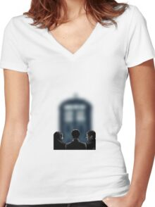 The Best Trio Women's Fitted V-Neck T-Shirt
