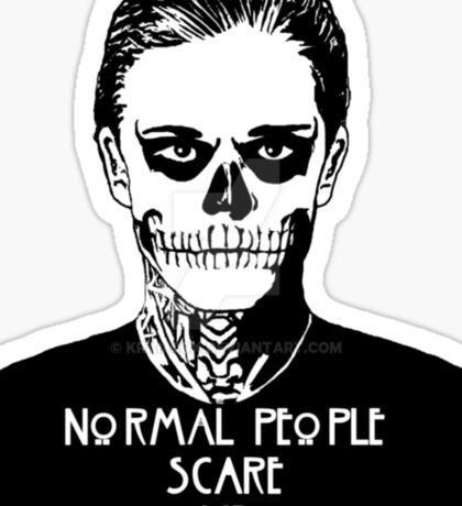 NORMAL PEOPLE SCARE ME Sticker