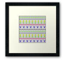 Retro Symbols Framed Print