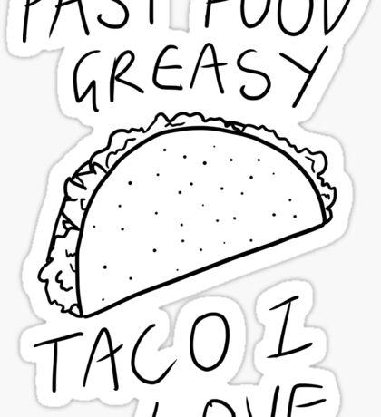 Taco Bell Saga Sticker