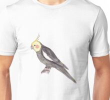 Watercolorpainting of a male Cockatiel Unisex T-Shirt