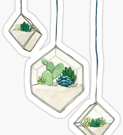 Hanging Succulents One Sticker