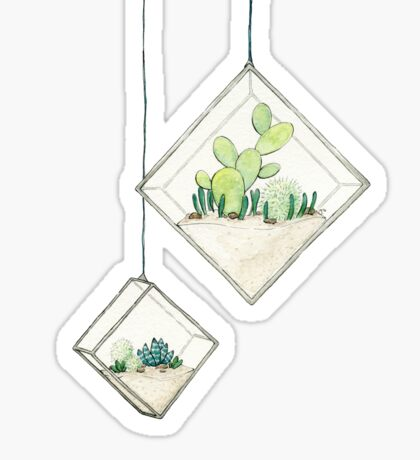 Hanging Succulents Two Sticker