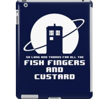 Fish Fingers and Custard White iPad Case/Skin